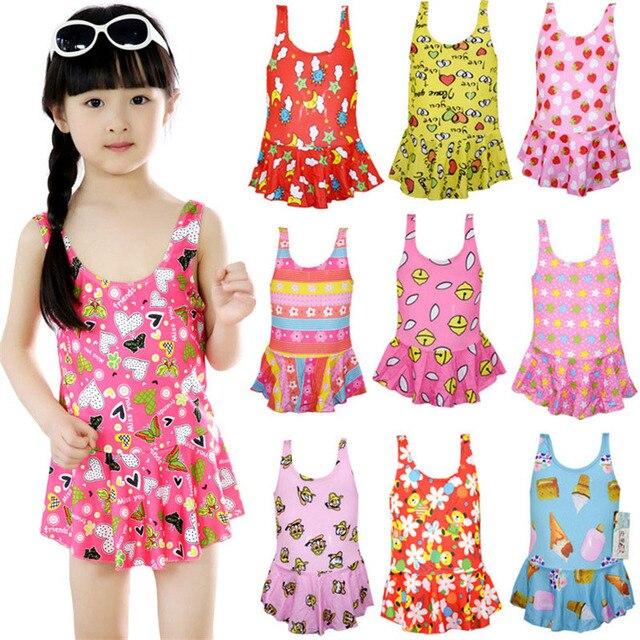 66fadd983 Sweet One Piece Swimsuit Girls Princess Swimwear Children Kids ...