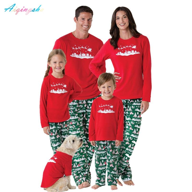 Детские пижамы Набор одинаковых пижам для всей семьи Одежда для мамы и дочки Пижама папы и сына комплекты одежды ночная рубашка; одежда для ... ...