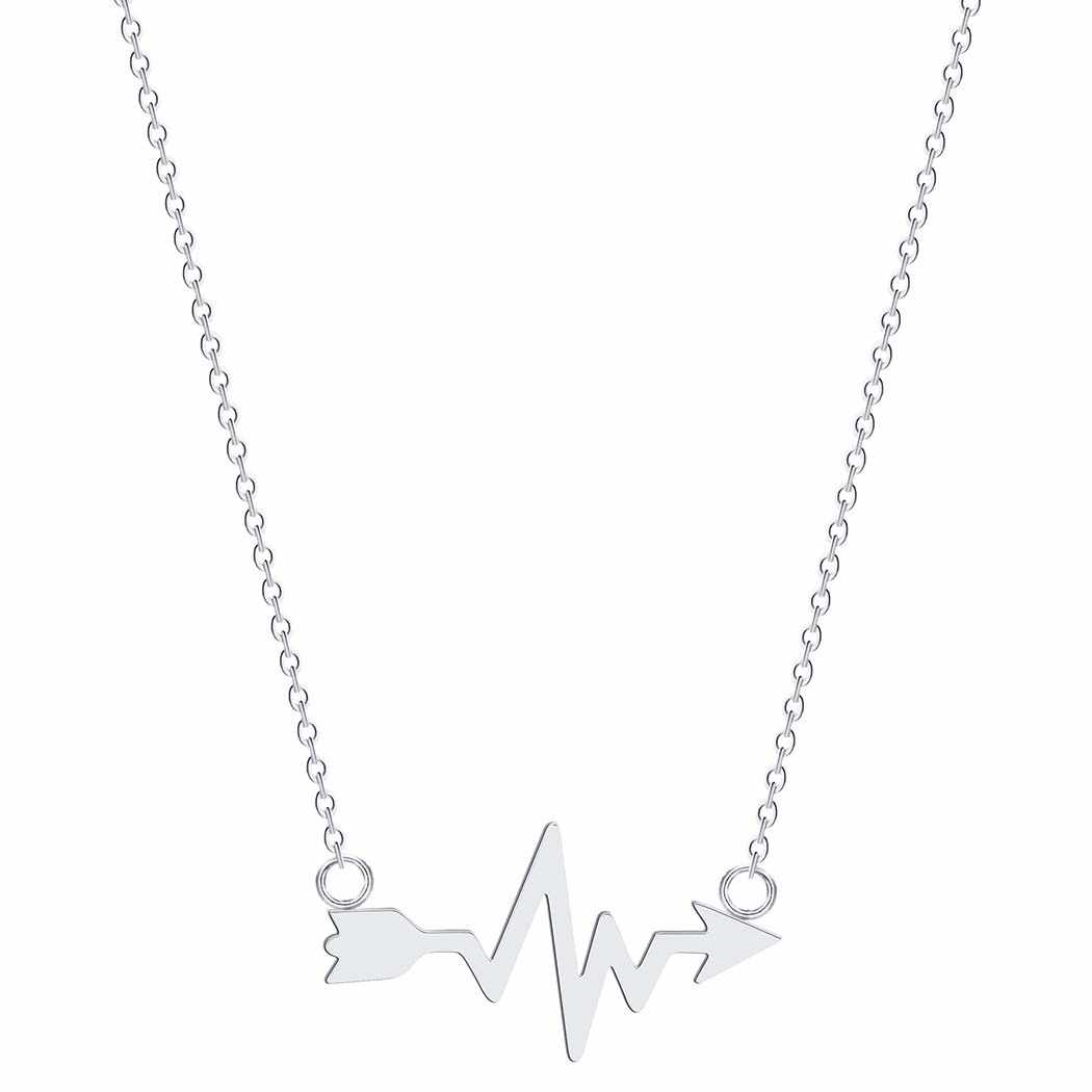 Stainless Steel Mickey Necklace Women Fashion Everyday Jewelry Mouse Cat Wolf Map Ocean Wave Tail Infinity Necklace Pendants