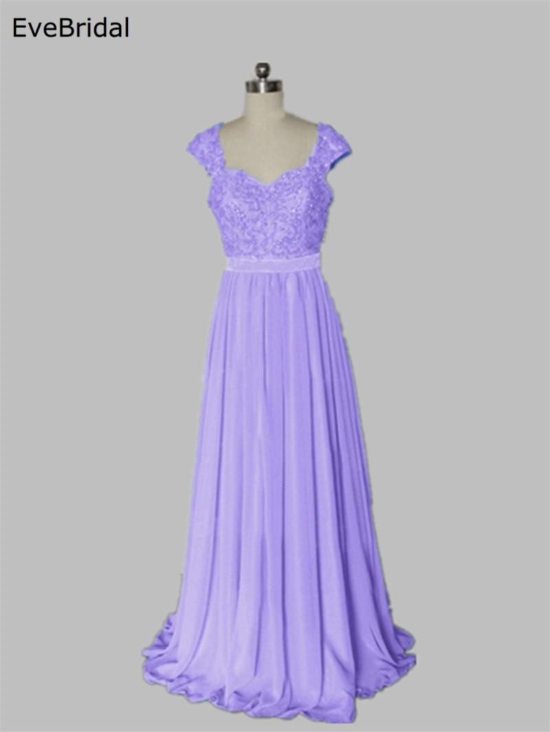 Hot Sale  Wholesale Bridesmaid Dresses Cap Sleeve Applique Beading Ball Prom Party Dress Size 4 6 8 10 12 14 16