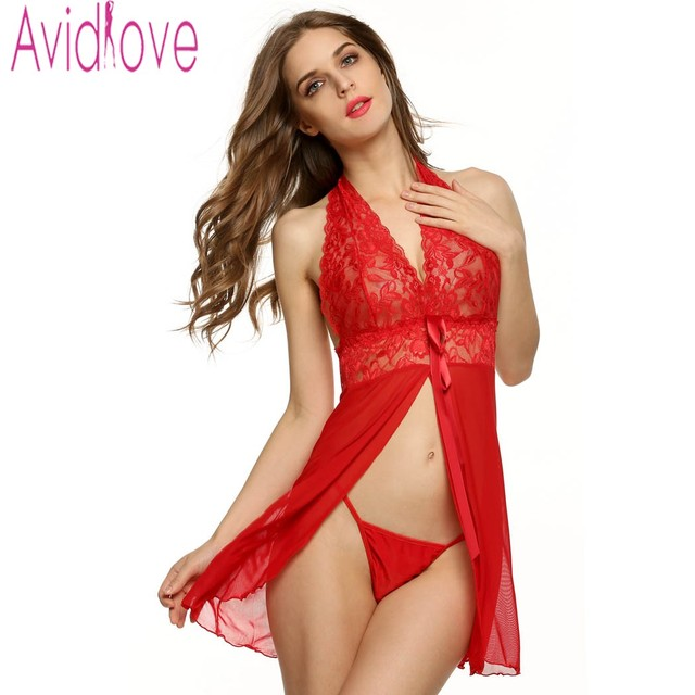e471abc10 Avidlove sexy women lingerie babydolls fashion front lace see through  exotic underwear lady sexy nightwear jpg