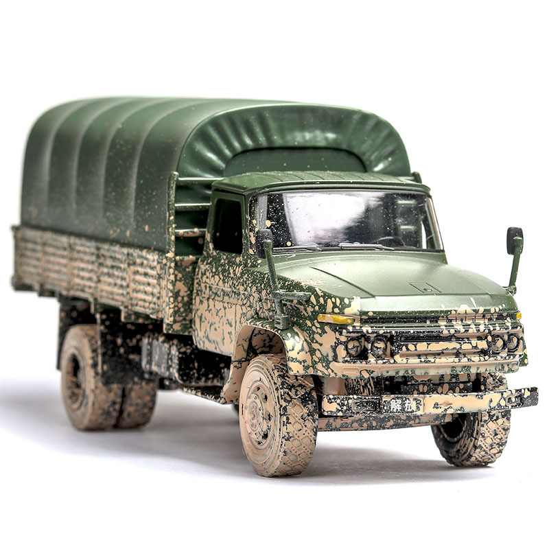 RBRC 1:32 simulation old version Dongfeng liberation truck model sound and light door open children's gift toys