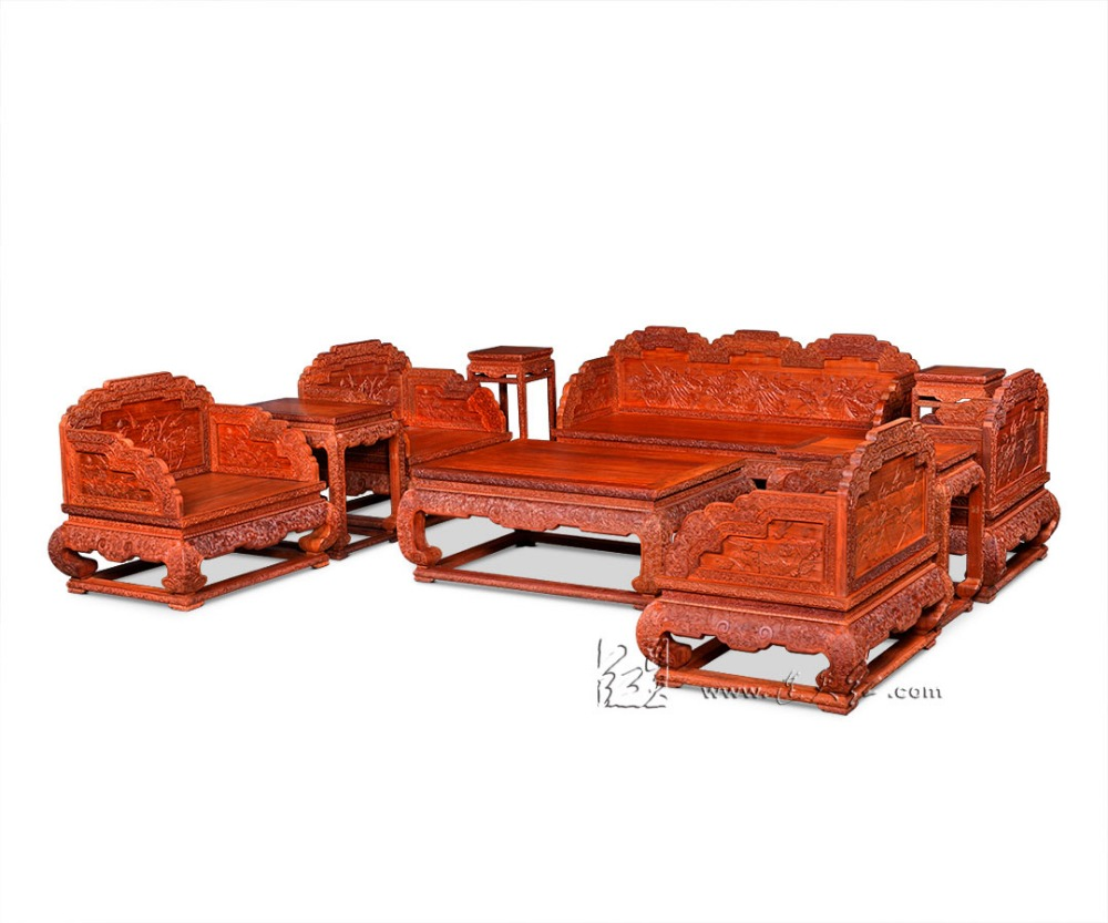 Brand new 1+2+3 Seats Sofa Bed Furniture Set Rosewood Living Room Wooden 10-Pieces Suite Chinese Japenese Classical Style Modern 8 pieces sofa bed furniture set 1 2 3 seats chair suit chinese royal rosewood triple armchair red sandalwood small low table set