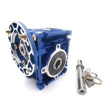NMRV030 червь Шестерни редуктор Flange-56B14 Скорость соотношение 10 15 20 25 30 40 50 60 80: 1 для асинхронный двигатель один год гарантии