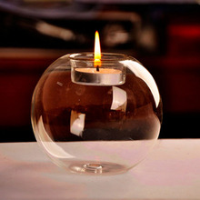 Top Sale Portable Classic Crystal Transparent Glass Candle Holder Wedding Bar Party Home Decor Candlestick