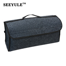 hot deal buy 1pc seeyule durable wool felt cloth car trunk box trunk organizer storage bag smart tool case stowing tidying