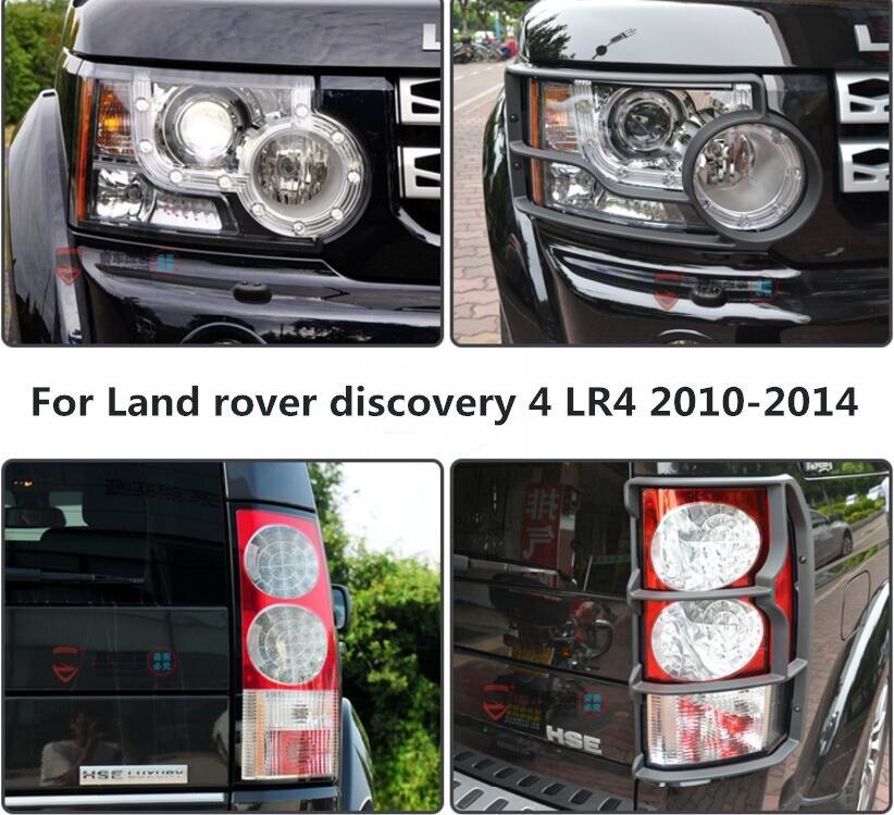 JINGHANG ABS Voiture Phare Avant + Arrière Feu arrière Couvercle de Lampe Garniture Pour Land rover discovery 4 LR4 2010 2011 2012 2013