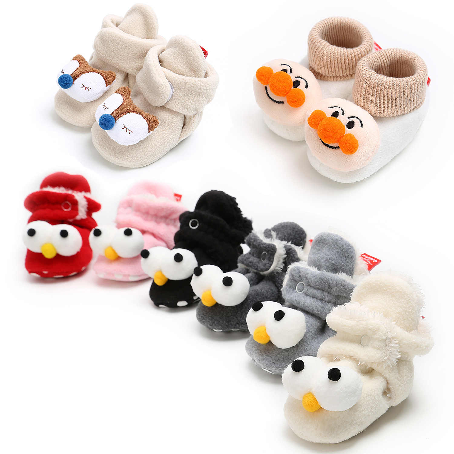 755d6ba2e49c7 Winter Cute Cat Animal Style Baby Boots Fleece Worm Cotton padded ...