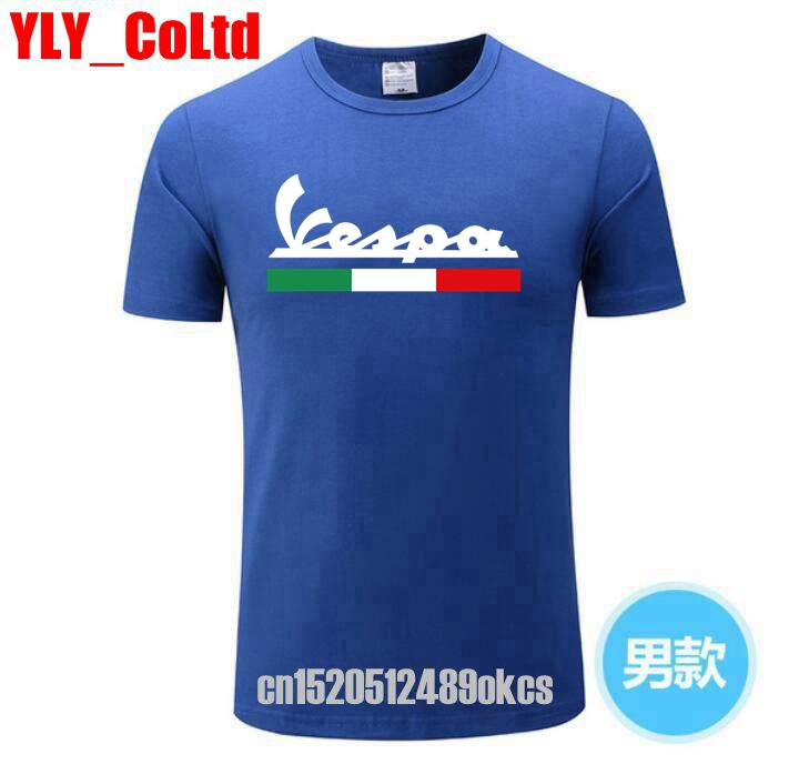 2019 Brand Men T Shirt Men's Women's Vespa Print T-Shirt Motorcycle Casual Men TShirt