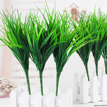Artificial Plants Green grass Plastic plant Artificial Grass desktop decor grass for Garden Outdoor Decoration Fake Plants Artificial Plants Departments