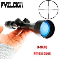 Hunting Shooting 3 9X40 Riflescopes Dull Polish Finish Fine Mil Dot Reticle Optical Sight Rifle Scope