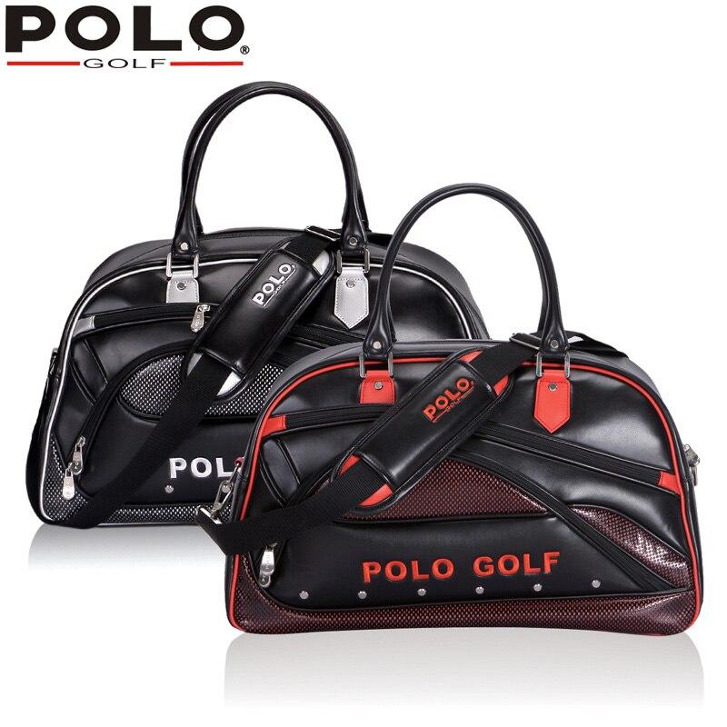 bcb6fb437c 2016 Novo Genuíno Saco de Golfe Da Marca Polo para Homens Vestuário das  Mulheres PU Saco de Grande Capacidade de Alta Qualidade