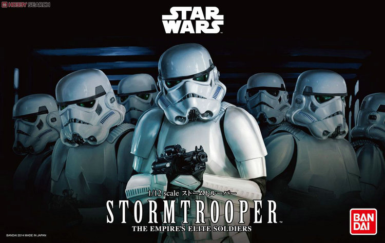 2015 New Genuine Bandai 1:12 Scale Star Wars stormtooper the empire's elite soldiers Plastic Model Building Kits DIY Toys 2015 new genuine bandai 1 48 scale star wars snow speeder modified incom t 47 airspeeder plastic model building kits diy toys