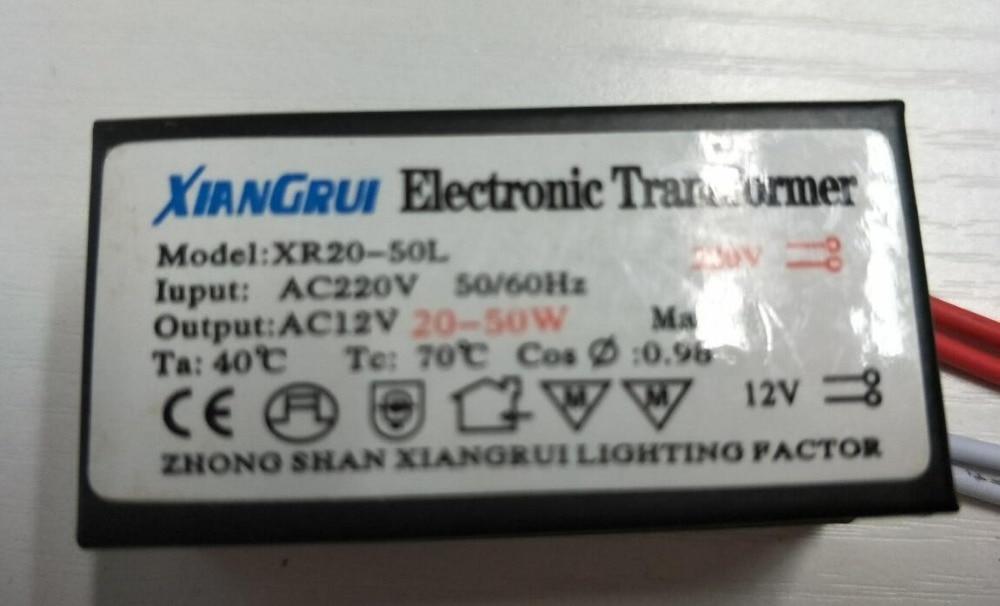 нови 1 пц водитељски адаптер трансформатора излаз 20-50 в 50В метални поклопац АЦ 220в до ДЦ 12в за лед траку мр11 мр16
