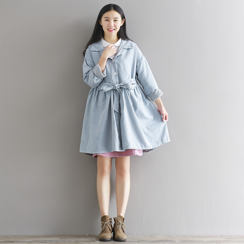 Woman Ladies Elegant Casual Loose A Line Dress Long Sleeve font b Polo b font Neck
