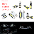 11 unids led canbus luces interiores kit package para volkswagen vw golf gti mk vi (2010-2014)