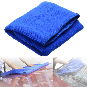 Image 5 - 1pcs New Blue Microfibre Cleaning Drying Auto Car Care Detailing Soft Cloths Wash Washing Towel Duster 30*70CM