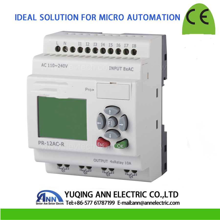 PR-12AC-R with LCD, without cable Programmable logic controller,smart relay,Micro PLC controller , CE ROHS цены онлайн