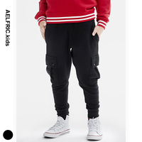 Aelfric Kids Autumn Winter Cargo Pants Boy Warm Fleece Sweatpants Children Clothing Thick Trousers Boys Full