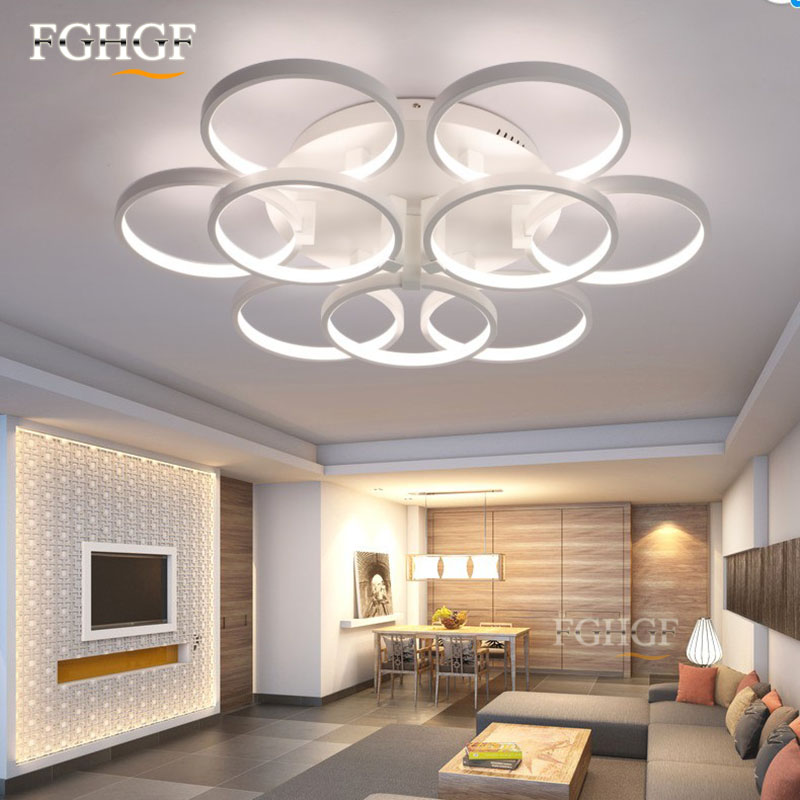 Modern LED Ceiling Chandeliers Lights Rings Ceiling Flush Mounted creative lamp for bedroom living room and Dining Room modern k9 crystal rings chandeliers lights led ceiling fixture for living dining room lamp restaurant design hanging lighting