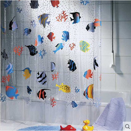 180 200cm Pvc Transpa Tropical Fish Bathroom Shower Curtain Mildew Proof Thick Waterproof Fabric