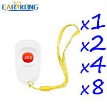 Botão sem fio do sos de 433mhz earykong, botão de painéis de emergência projetado para velho ou crianças compatível com alarme anti-roubo em casa