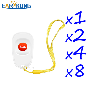 EARYKONG 433MHz Wireless SOS Button Emergency Panic Button Designed For Old Man Or Children Compatible With Home Burglar Alarm