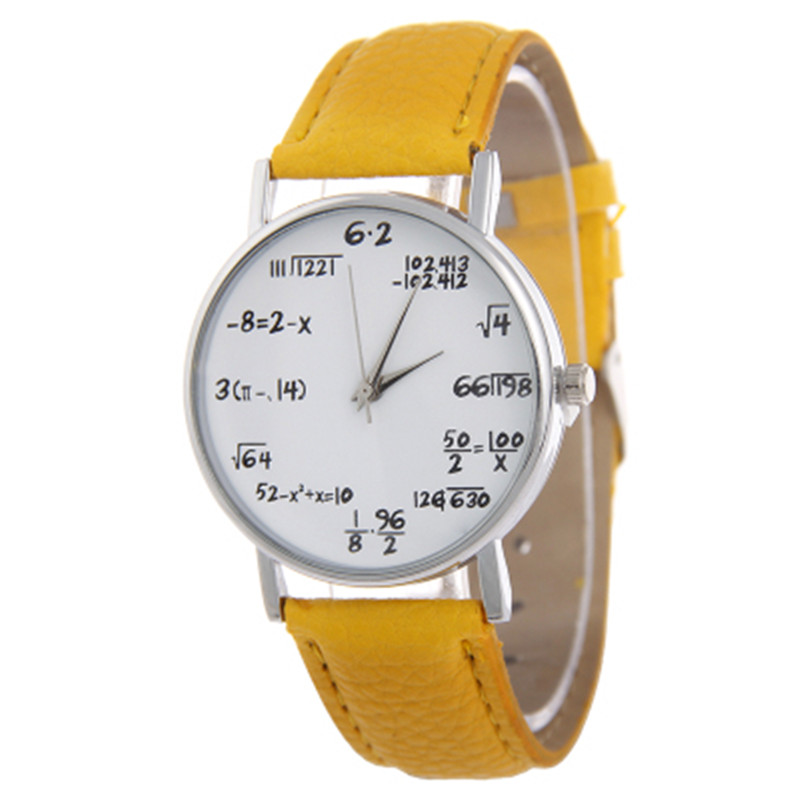 Mathematical formula equation watch female, European and