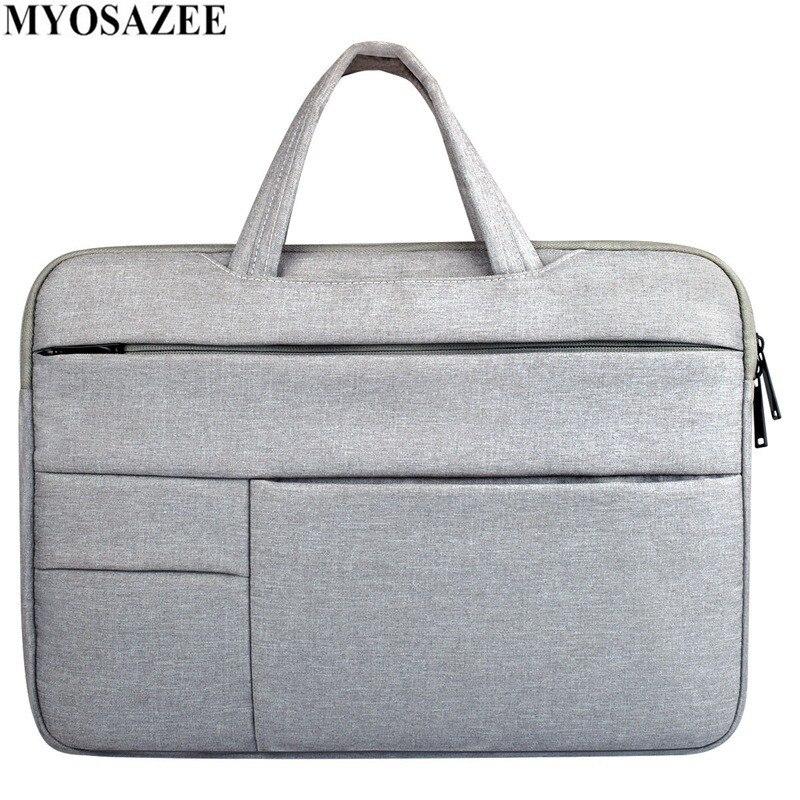 MYOSAZEE Fashion Casual Briefcase Waterproof Crushproof 14 Inch Notebook Computer Laptop Bag For Men Women Briefcase