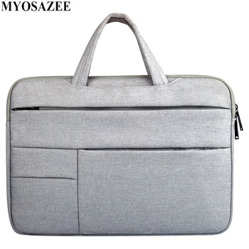 цена на MYOSAZEE Fashion Casual Briefcase Waterproof Crushproof 14 inch Notebook Computer Laptop Bag for Men Women Briefcase