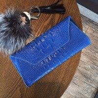 AOEO Alligator Top Handle Evening Bags Functional Clutch Female Purse Women Leather Handbags Crocodile Wallets Card