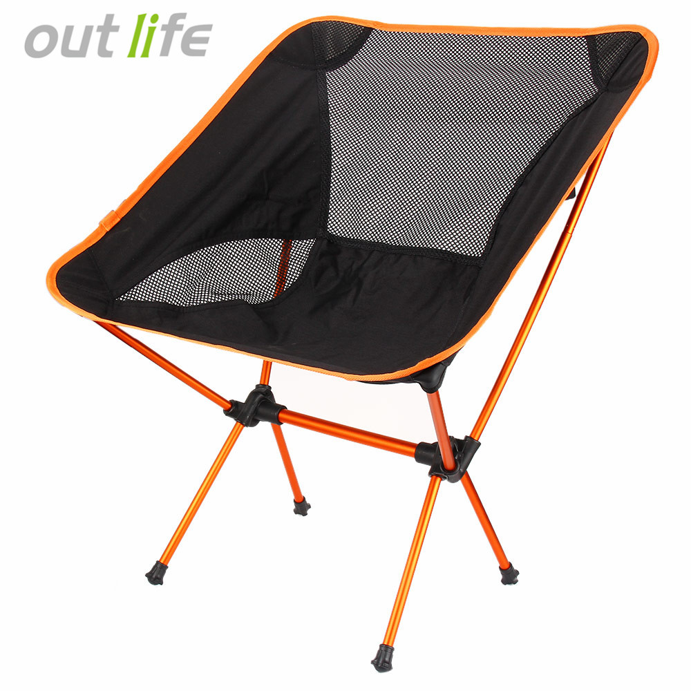 Outlife Ultra Light Folding Fishing Chair Seat For Outdoor Camping Fishing Leisure Picnic Beach Chair Other Fishing Tools portable chair seat outlife ultra light chair folding lightweight stool fishing camping hiking beach party picnic fishing tools