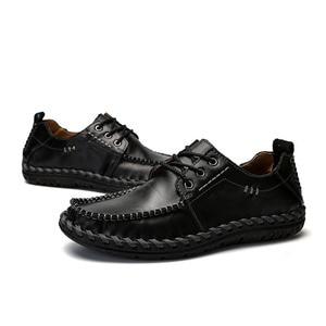Image 4 - Mynde 2018 Mode Komfortable Casual Schuhe Müßiggänger Männer Schuhe Qualität Aus Echtem Leder Schuhe Männer Wohnungen Heißer Verkauf Mokassins Schuhe