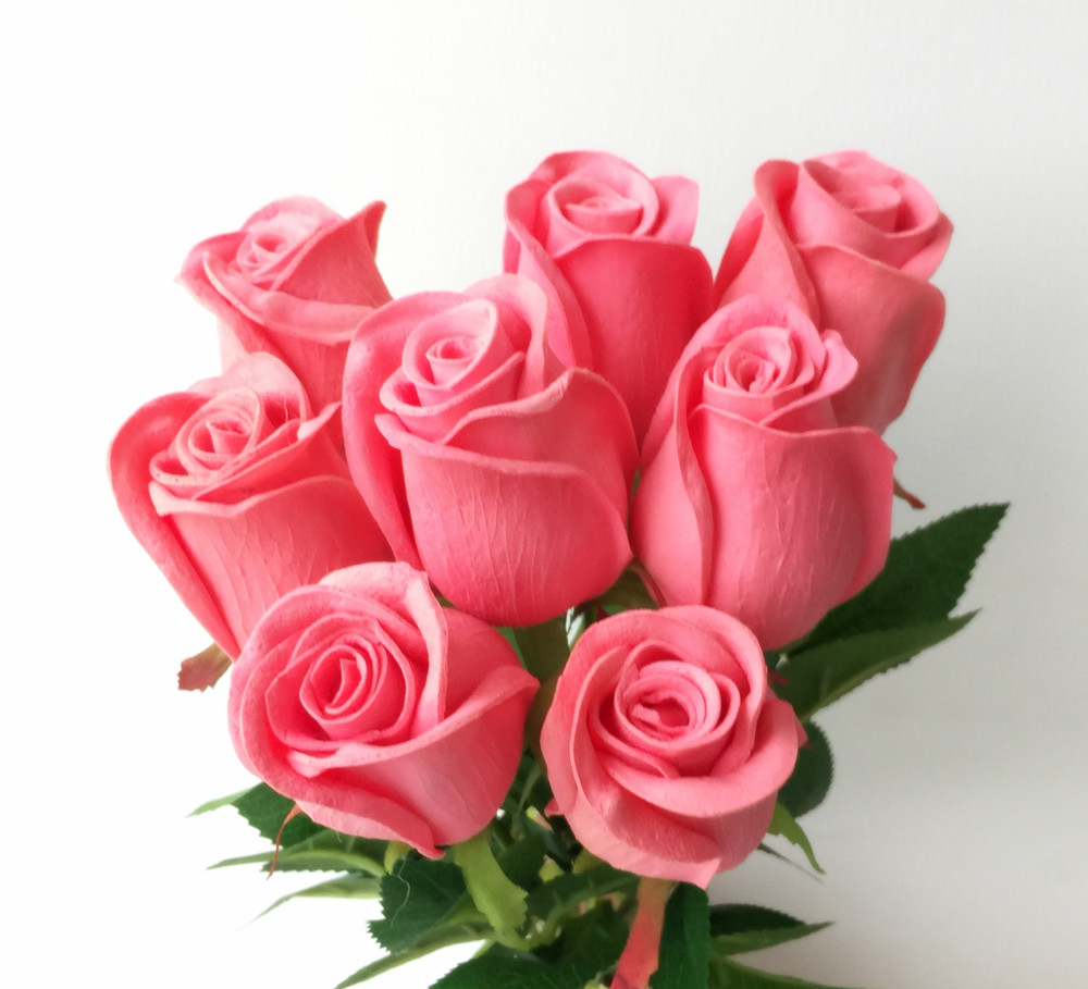 Rosas Real Touch Negro Rosa Azul Rosa Rojo Blanco Amarillo Púrpura - Para fiestas y celebraciones - foto 4