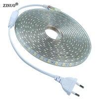 ZINUO220V 5 M 10 M Taśmy LED 5050 LED Jaśniejsze Wstążka Wodoodporna IP65 niż 5630 2835 3528 Taśmy LED Biały Ciepły Biały Czerwony Zielony niebieski