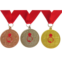 Cheap custom gold, silver and bronze medals low price zinc alloy commemorative medal