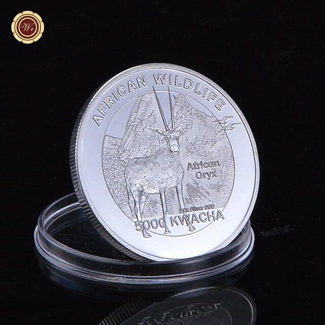 Us 50 1 Eine Troy Unzen Unzen 999 Feinsilber überzogene Afrikanische Wildlife 5000 Kwacha Silber Tier Münze Oryx In 1 Eine Troy Unzen Unzen 999