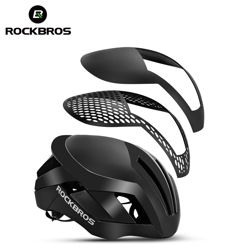 ROCKBROS Cycling Helmet EPS Reflective Bike Helmet 3 in 1 MTB Road Bicycle Men's Safety Light Helmet Integrally-Molded Pneumatic