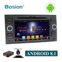 Восьмиядерный чистый Android 8,1 2 din автомобильный DVD плеер с JPS и навигацией стерео радио аудио 4G для Ford Focus 2 Mondeo S C Max Fiesta Galaxy BT