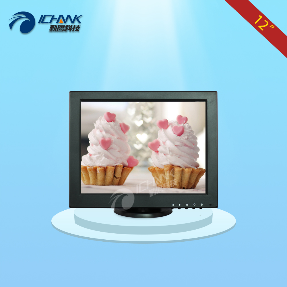 купить ZB120JNV2/12 inch 1024x768 4:3 standard screen portable small single VGA signal industrial medical monitor LCD screen display; по цене 4481.44 рублей