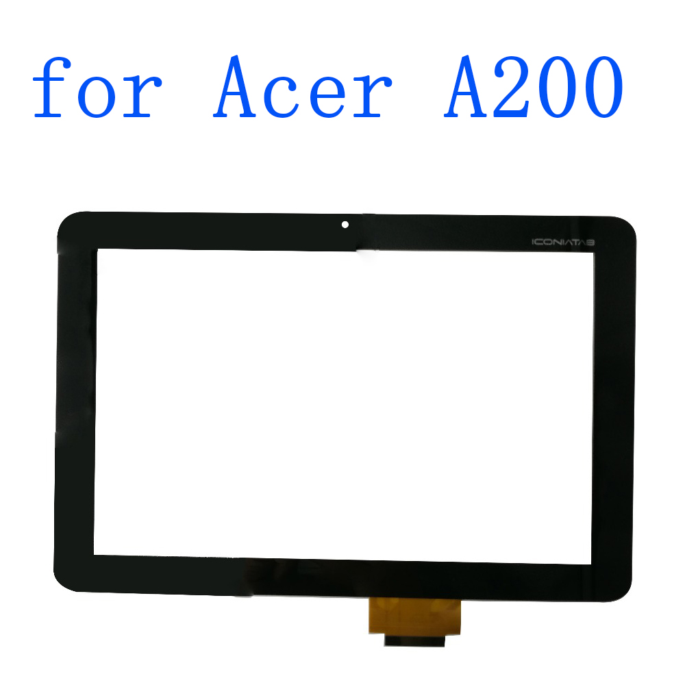 ALANGDUO for 10.1 Acer Iconia Tab A200 Touch Screen Digitizer Panel Front Replacement Glass Sensor Lens Tablet 10 1 for acer iconia tab a3 a10 a3 a11 tablet touch screen touch panel digitizer glass lens repair parts replacement free ship