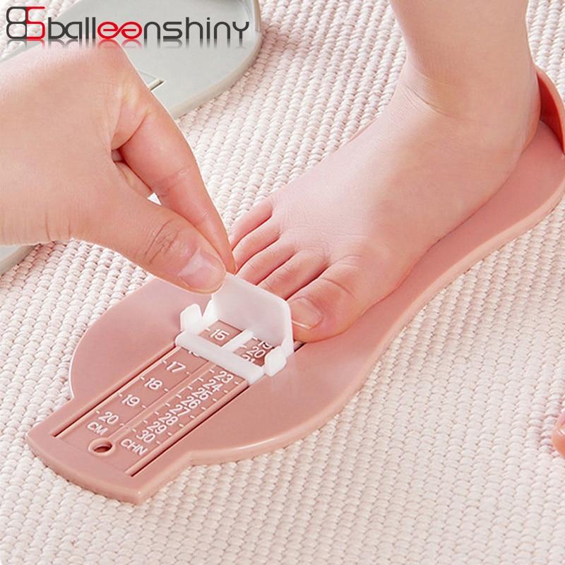 BalleenShiny Infant Baby Foot Measure Ruler Gauge Shoes Size Ruler Tool Adjustable Kids Shoes Measure Range 0-20cm Size For 0-8Y