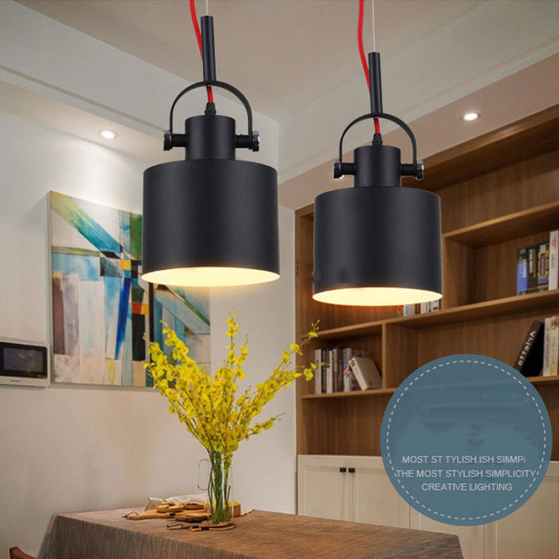 Retro loft adjustable pendant light light e27 pendant for Balcony bar restaurant