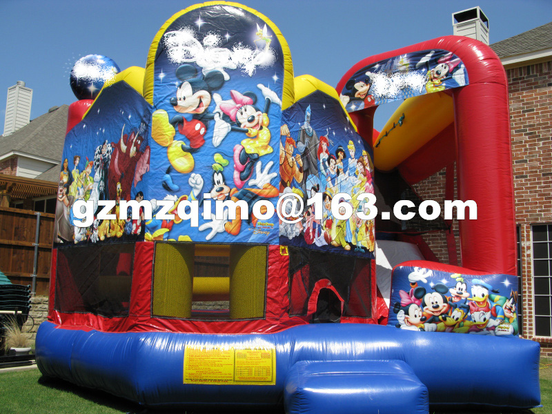 FREE SHIPPING BY SEA Hot Selling Inflatable Bouncer Inflatable Trampoline With Inflatable Slide Combo free shipping by sea popular inflatable water slide inflatable toy for kids