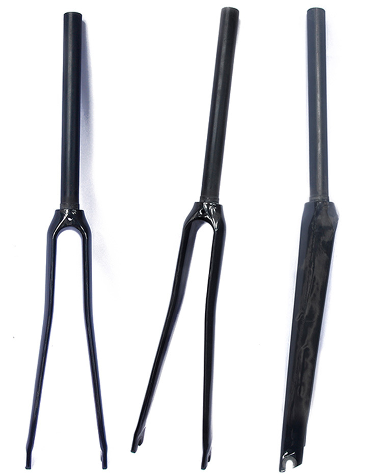 ФОТО High Quality Carbon T800 Bicycle Fork 700c Road Bike UD/3K Full Carbon Fibre Front Forks Bicycle Parts Road Fork Matte/Glossy