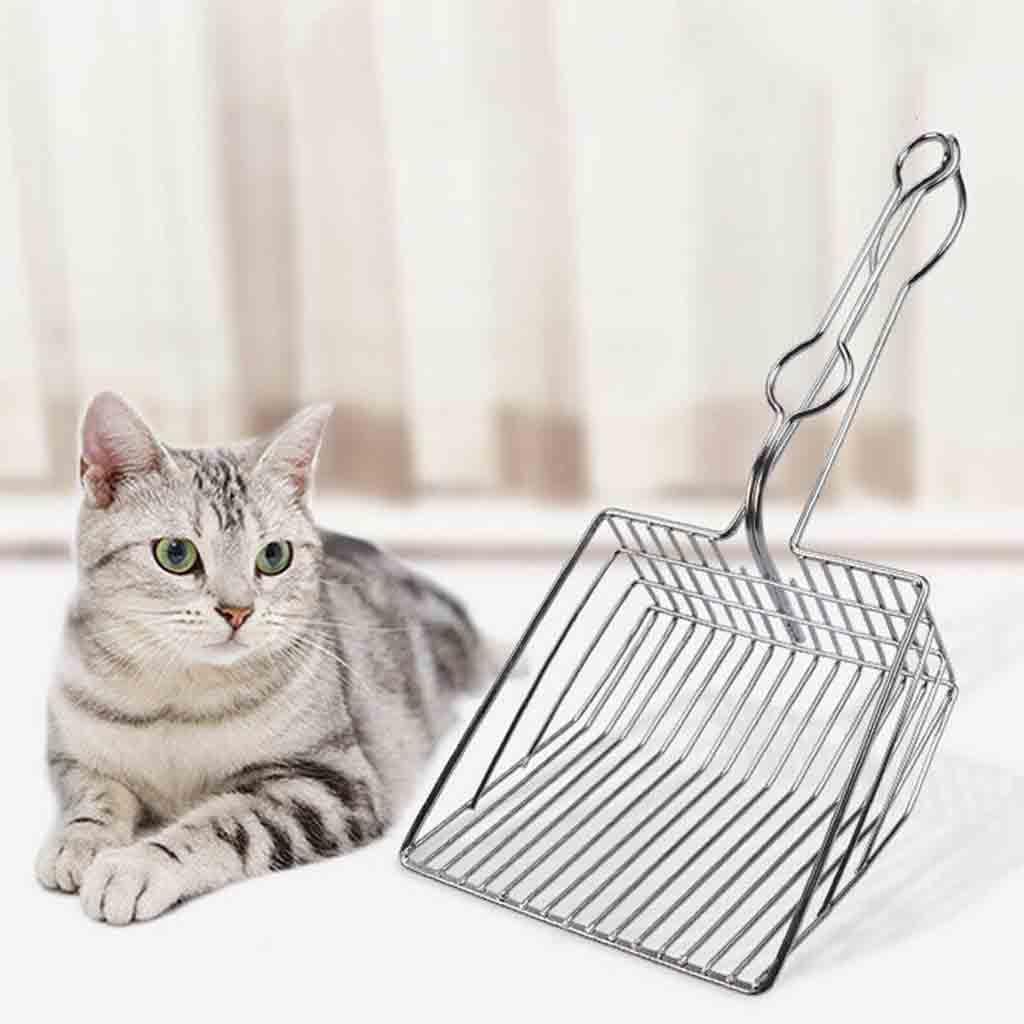 1pc 2019 New Hollow Pet Cat Toilet Litter Scoops Metal