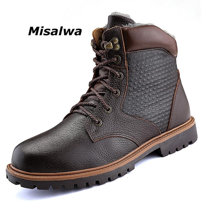 Werkschoenen Heren.Misalwa Heren Werkschoenen Ronde Neus Waterbestendig Lederen