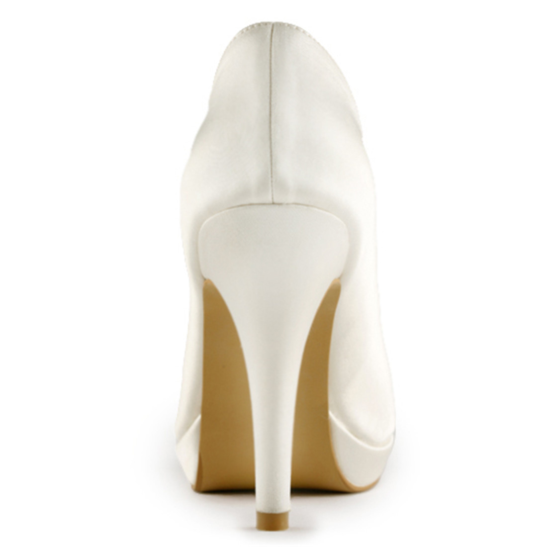Elegantes tacones altos para novia dama de honor marfil blanco champán zapatos de plataforma de satén de lujo zapatos de boda Uninnova 521 1 LY - 6