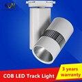 40 W COB LED Faixa luz AC85-265V Varejo Spot Lâmpada de Parede Iluminação Da Trilha Trilho Holofotes Substituir Lâmpadas Halógenas Frete Grátis
