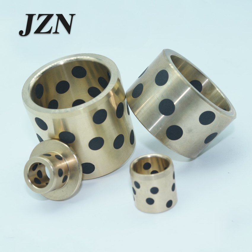 JDB inlaid graphite copper sleeve / oil-free bushings / self-lubricating oil bearing / copper sleeve diameter 30mm lm40uu solid inlay graphite self lubricating linear bearings bushings without oil graphite copper sleeve 40 60 80